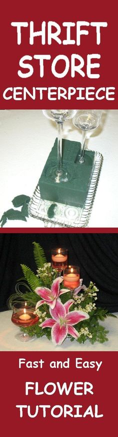 Votive Candle Centerpieces - Wedding Fresh Flower Tutorials Learn how to make bridal bouquets, wedding corsages, groom boutonnieres, church decorations and reception centerpieces.