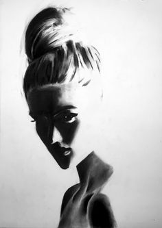 Charcoal Drawing Design Work - Charcoal art made by Denny Stoekenbroek Charcoal Art, Charcoal Drawing, Charcoal Sketch, Art Sketches, Art Drawings, Benjamin Bratt, Art Diy, Tinta China, Figure Drawing