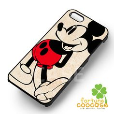 Disney Mickey Mouse cute classic image -srrw for iPhone 6S case, iPhone 5s case, iPhone 6 case, iPhone 4S, Samsung S6 Edge
