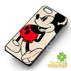 Disney Mickey Mouse cute classic image -srrw for iPhone 6S case, iPhone 5s case, iPhone 6 case, iPhone 4S, Samsung S6 Edge