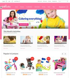 65bee6874b38 This kids OpenCart theme has a responsive layout, a slideshow, a mega menu,