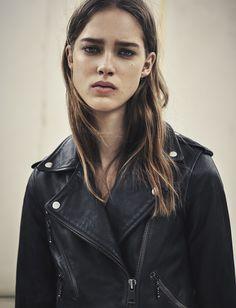 AllSaints Women's March Lookbook Look 7: The Rawley Biker Jacket #Marchlookbook