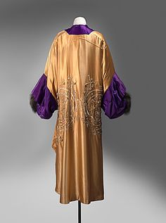 Opera Coat By Jeanne Paquin For The House Of Paquin   c.1910    (View Of Back Of Coat)