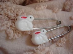 Vintage Baby Diaper Safety Pins used for cloth diapers.