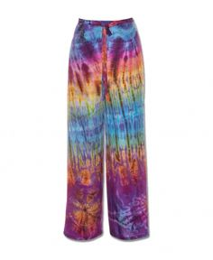 FREE TO BE TIE-DYE PANTS   Funky Tie-Dye Pants   Flowy Bohemian Pants   Soul Flower