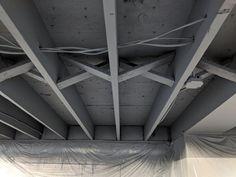 Unfinished Basement Ceiling, Basement Ceiling Painted, Basement Ceiling Options, Basement Painting, Ceiling Painting, Basement Lighting, Basement Flooring, Unfinished Basement Decorating, Unfinished Basements