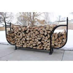 Woodhaven Courtyard Firewood Rack with Standard Cover #LearnShopEnjoy