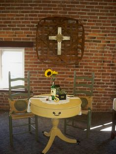 Sweet bride and groom table for rustic wedding reception