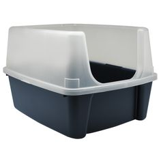 Iris Clean Pet Cat Kitty Open Top Cats Litter Box With Shield And Scoop Tidy New At Online