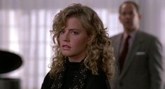 Not a favorite eighties movie of mine, but in Cocktail (1988) Elizabeth Shue (Jordan Mooney) has gorgeous hair -that's worth mentioning