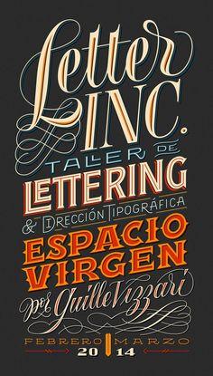«Letter INC.» workshop concerning Lettering Design and Type Direction by Yani Arabena & Guille Vizzari