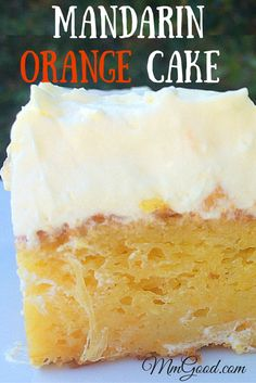 A wonderful homemade cake using boxed cake mix and mandarin oranges. The frosting is made with cool whip and pineapple! This is a dense yet light cake that is perfect for spring and summer...Easter won't be the same without it. Let me know how you liked this recipe! | www.MmGood.com