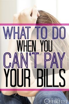 What to do when you can't pay your bills? It's a really frustrating and lonely place to be, but you're not alone. I can help!