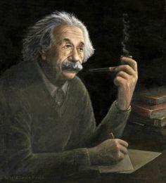 Portrait of Professor Albert Einstein By Robert Lewis Booth. Albert Einstein Poster, Fictional Heroes, Stoke On Trent, Best Model, Body Tattoos, Funny Cartoons, Vintage Ads, Beautiful Creatures, Still Life