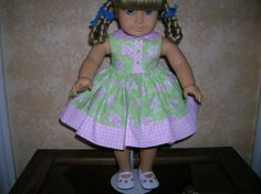 Sweet Easter Bunny Dress for your American Girl Doll by renwill22, $12.99