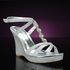 Silver Wedge Prom Shoes | Silver Wedge Wedding Shoes Are In This Season | Wedding Shoes Blog