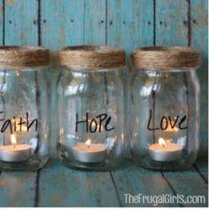 Easy Mason Jar Candles