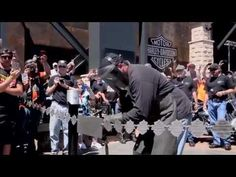 Torching the Chain: H-D Rally Point Grand Opening at the Sturgis 75th Rally - YouTube