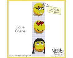 Loom Bracelet Pattern  Love Online   INSTANT DOWNLOAD pdf