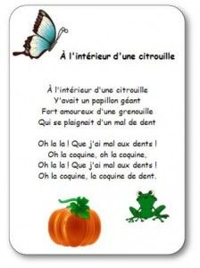 Nursery Rhyme Inside a Pumpkin Illustrated Words of the Nursery Rhyme Inside a Pumpkin Read In French, How To Speak French, Learn French, Halloween Poems, Illustrated Words, French Songs, Education And Literacy, Teaching French, Nursing Students