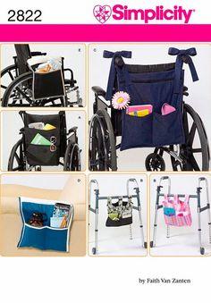 Wheelchair Pockets Pattern, Walker Pockets Pattern, Armchair Pockets Pattern, Simplicity Sewing Pattern 2822
