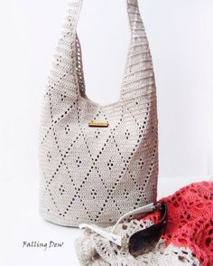 Accessories Handbag / Purse, Summer Bag, Beach Handbag/ Women Handbag, Crochet Bag, Gifts For Her, Holiday Gifts by FallingDew on Etsy https://www.etsy.com/listing/181733119/accessories-handbag-purse-summer-bag