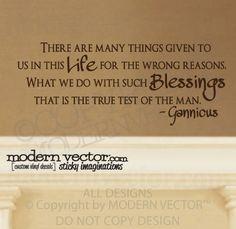 GANNICUS quote