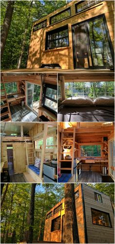 Rent the Auburn Tiny House from Cabinscape in Ontario - Cabinscape is a unique company that rents out fully furnished and stocked tiny houses in Ontario that are immersed in nature letting you escape to wilderness without the hassle of setting up camp. One of their models is the Auburn tiny house which is a rustic and spacious home that's off-grid and can sleep up to four guests. Rates start at $126 for the night or $850 for the week.