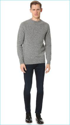 Esporte Jeans com blusa de lã