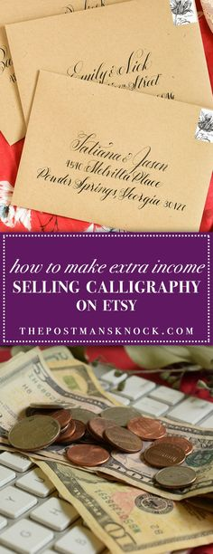 How to Make Extra Income by Selling Calligraphy | The Postman's Knock