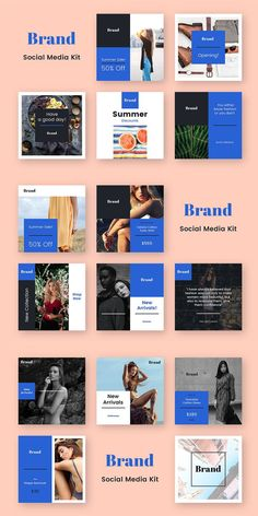 Description: Your company needs to look perfectly on the social networks. Brand Social Media Kit was created specifically for this. Just replace the text and Social Media Branding, Social Media Banner, Social Media Template, Media Kit Template, Social Media Design, Social Media Ad, Social Media Graphics, Social Media Company, Social Networks