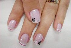Pin by Kazys Lukošius on woman manicure Nail Manicure, Toe Nails, Pink Nails, Elegant Nails, Stylish Nails, Toe Nail Designs, Flower Nails, Nail Decorations, Beautiful Nail Art