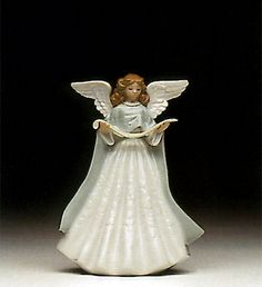 LLADRO - ANGEL TREE TOPPER-GREEN 1992