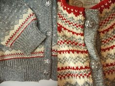 Scandinavian knit cardigans. Perfect for a rustic mori look.