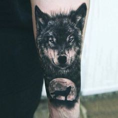 Howlin' at the moon.. #wolf #blackandgrey #portrait #animal #forearm #photorealism #tattoo #tattoos #tattooed #tattooartist #savemyink