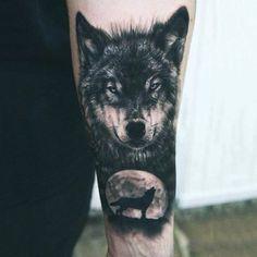Howlin' at the moon.. #wolf #blackandgrey #portrait #animal #forearm #photorealism #tattoo #tattoos #tattooed #tattooartist #savemyink