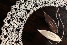 タティングレースの付け襟② の画像 kinari タティングレース てしごと日記