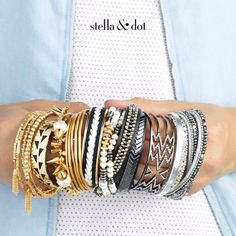 Stella & Dot Fall 2016!  Create your own #armparty @ www.StellaDot.com/ElizabethRanta.   Host a trunk show and earn style rewards for FREE jewelry.