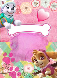 Paw Patrol Everest, Skye Paw Patrol Cake, Sky Paw Patrol, Girl 2nd Birthday, 4th Birthday Parties, Paw Patrol Birthday Theme, Paw Patrol Birthday Invitations, Birthday Frames, Ideas