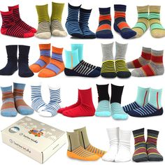 $20 for 18 pairs - $1.10 each - Amazon.com: TeeHee (Naartjie) Kids Boys Fashion Cotton Crew 18 Pair Pack Gift Box: Clothing