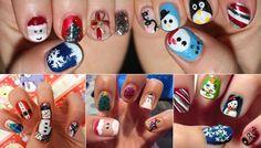 ¿Cómo hacer una Manicure para Navidad Navideño? by maquillajebellezamujer.blogspot.com