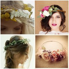 I really need a reason to wear one of these. because I don't plan on getting married again. Flowers In Hair, Wedding Flowers, Dress Hairstyles, Hairdos, Dream Wedding, Wedding Day, Flower Bomb, Flower Hair Accessories, Floral Crown