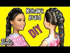 How to Make Mohawk Braid Hair for Barbie - DIY Doll Hair Tutorial - YouTube Mohawk Braid, Braided Bun Hairstyles, Braid Hair, Doll Hairstyles, Doll Clothes Barbie, Barbie Stuff, Doll Stuff, Barbie Doll, Kylie Jenner Hair Tutorial
