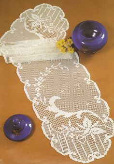 Crocheted Table Runner  Simple free delivery by LaisviakCrochet, $96.40
