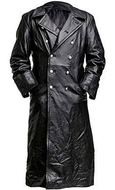 Looking for Spazeup German Style Classic Military Officer Black Leather Trench Coat ? Check out our picks for the Spazeup German Style Classic Military Officer Black Leather Trench Coat from the popular stores - all in one. Leather Trench Coat Mens, Military Trench Coat, Leather Jackets, Long Trench Coat Mens, Trench Jacket, Jacket Men, Langer Mantel, Long Jackets, Long Coats