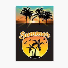 Beach Posters, Beach Wood, Beach Canvas, Summer Sunset, Lip Designs, Canvas Prints, Art Prints, Warm Colors
