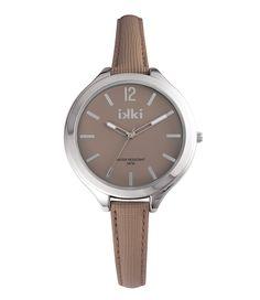 Maak je armcandy compleet met dit prachtige horloge van IKKI Watches in deze prachtige light taupe kleur gecombineerd met zilveren details.
