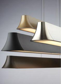"""Tech Lighting 700LSZHN49-CF Zhane 49"""" Linear Suspension 2 Light Chandelier Satin Gold Indoor Lighting Chandeliers"""