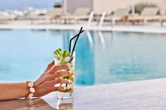 Start your day in the coolest way…!  With refreshing ‪cocktails‬ at our majestic swimming ‪‎pool‬, specially prepared by our creative bartender, will surely lift your spirits while you enjoy your own private getaway spot in ‪Santorini‬, the Astro Palace Hotel & Suites!