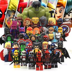 Marvel Super Heroes Action Figures Legoes Minifigures Building Blocks Civil War X Men Captain America Hulk Deadpool Iron Man-in Blocks from Toys & Hobbies on Aliexpress.com | Alibaba Group